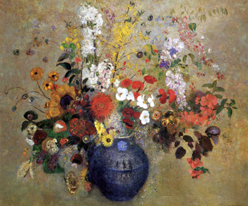 Prints and cards of Flowers, 1909 by Odilon Redon