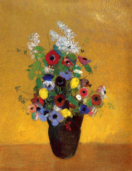 Prints and cards of Flowers, 1905 by Odilon Redon