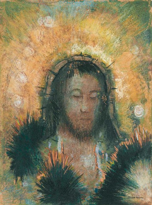 Prints and cards of Head of Christ by Odilon Redon