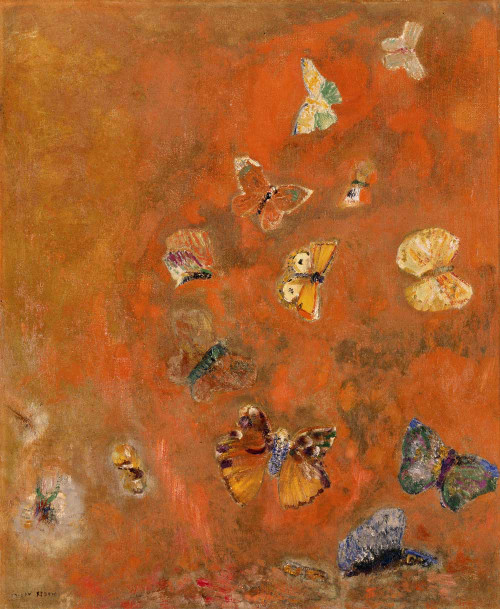 Prints and cards of Invocation of Butterflies by Odilon Redon