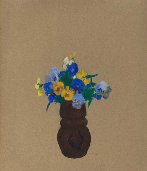 Prints and cards of Pansies, 1905 by Odilon Redon