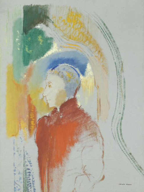 Prints and cards of Profile of a Character by Odilon Redon