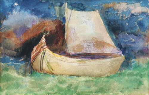 Prints and cards of The Boat by Odilon Redon