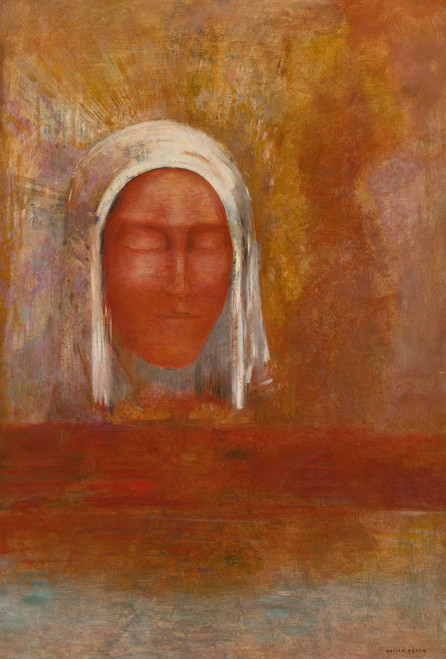 Prints and cards of The Virgin of Aurora by Odilon Redon