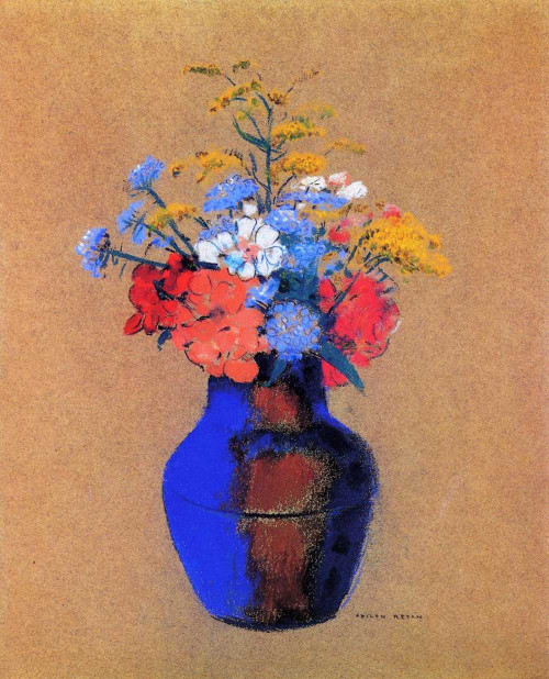 Prints and cards of Wildflowers in a Vase by Odilon Redon