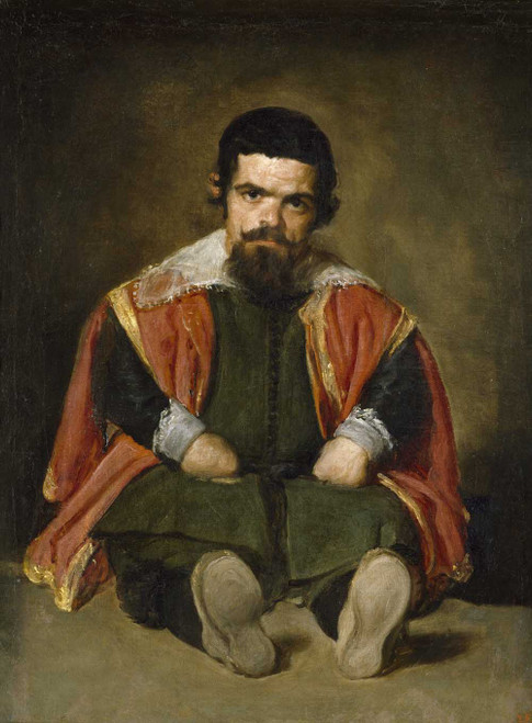 Art prints of The Buffoon el Primo by Diego Velazquez