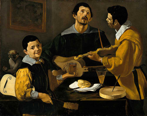Art prints of The Three Musicians by Diego Velazquez