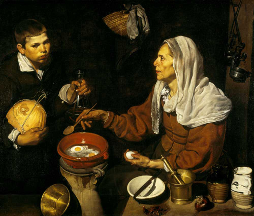 Art prints of Old Woman Frying Eggs by Diego Velazquez