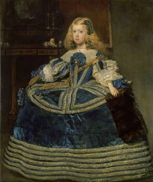 Art prints of Infanta Margarita Teresa in a Blue Dress by Diego Velazquez