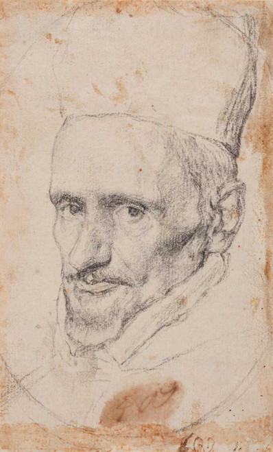 Art prints of Portrait of Cardinal Gaspar de Borja y Velasco by Diego Velazquez