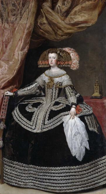 Art prints of Portrait of Queen Mariana of Austria by Diego Velazquez