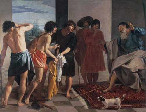 Art prints of Joseph's Bloody Coat Brought to Jacob by Diego Velazquez
