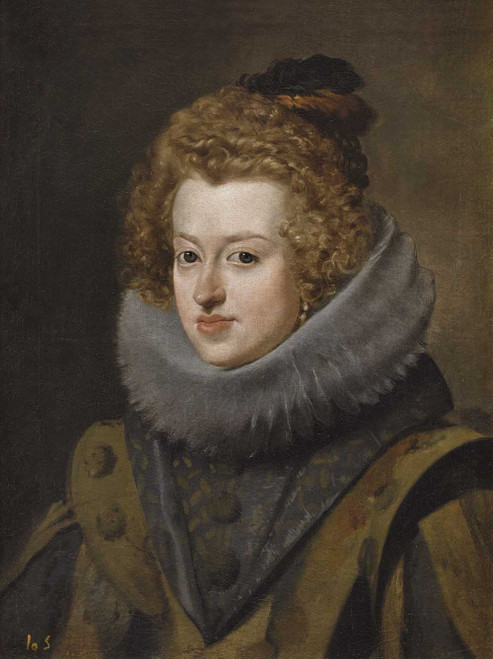 Art prints of Portrait of Maria Anna of Spain by Diego Velazquez
