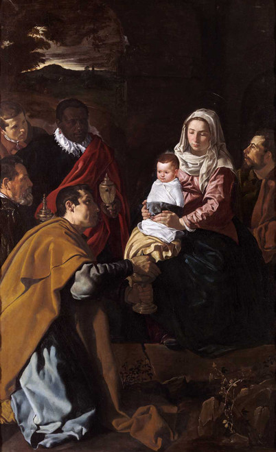 Art prints of Adoration of the Magi by Diego Velazquez