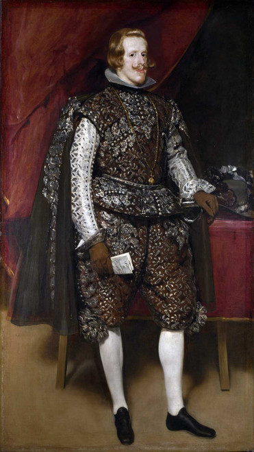 Art prints of Philip IV in Brown and Silver by Diego Velazquez