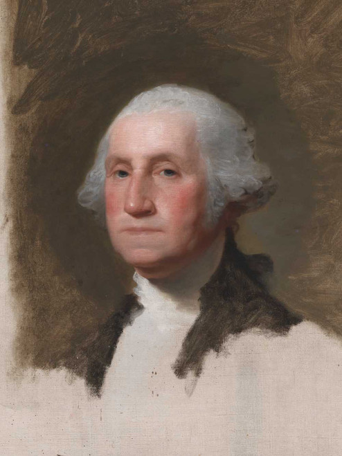 Art prints of George Washington, the Anthenaeum Portrait, cropped by Gilbert Stuart