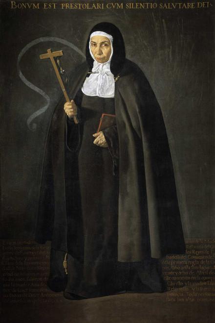 Art prints of Portrait of Jerónima de la Fuente by Diego Velazquez