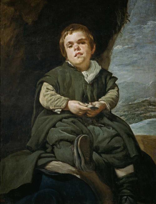 Art prints of Portrait of Buffoon Francisco Lezcano by Diego Velazquez