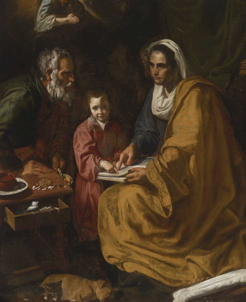 Art prints of Education of the Virgin by Diego Velazquez