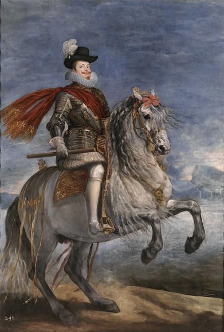 Art prints of Equestrian Portrait of Philip III by Diego Velazquez