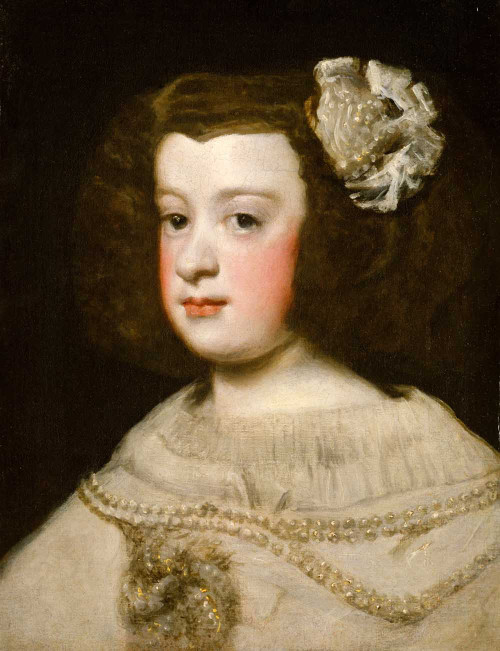 Art prints Portrait of the Infanta Maria Teresa of Spain II by Diego Velazquez