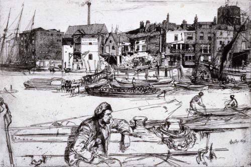 Art prints of Black Lion Wharf by James Abbott McNeill Whistler