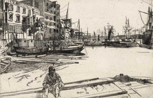 Art prints of Eagle Wharf by James Abbott McNeill Whistler