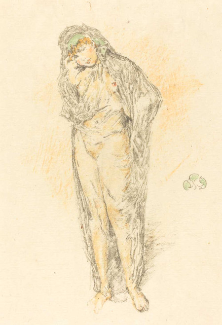 Art prints of Draped Figure Standing by James Abbott McNeill Whistler