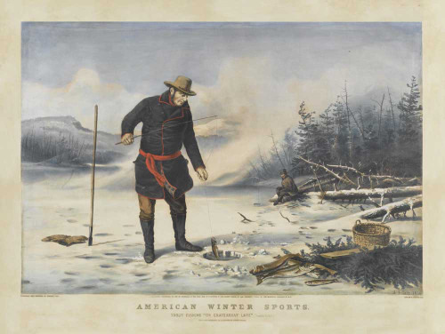 Art prints of American Winter Sports by Currier and Ives