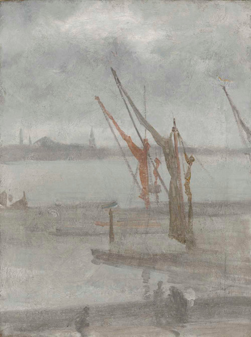 Art prints of Grey and Silver Chelsea Wharf by James Abbott McNeill Whistler