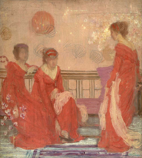 Art prints of Harmony in Flesh Colour and Red by James Abbott McNeill Whistler