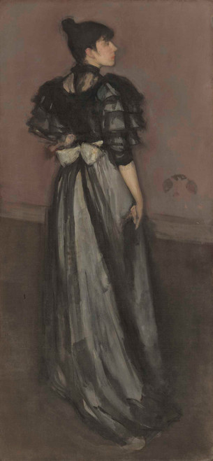 Art prints of Mother of Pearl and Silver, the Andalusian by James Abbott McNeill Whistler