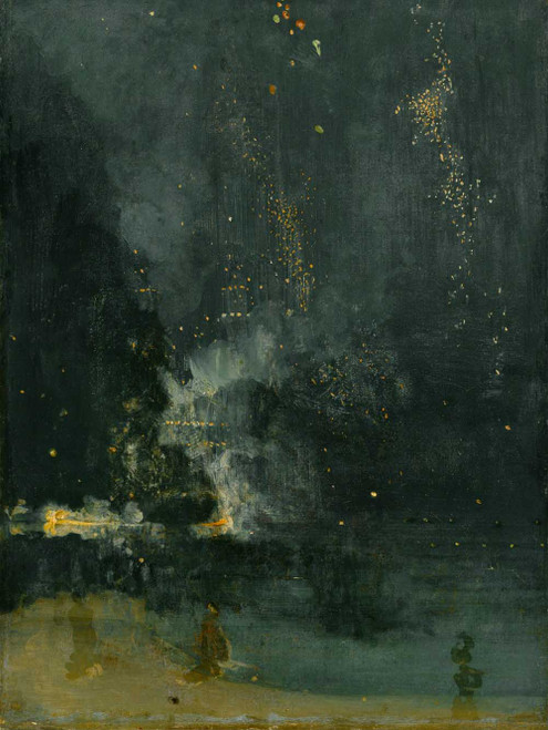 Art prints of Nocturne in Black and Gold, The Falling Rocket by James Abbott McNeill Whistler