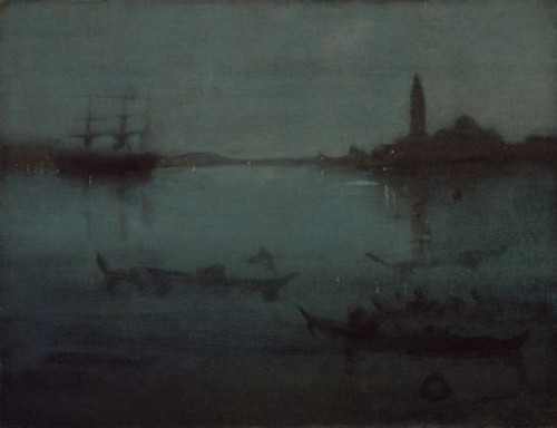 Art prints of Nocturne Blue and Silver, the Lagoon, Venice by James Abbott McNeill Whistler
