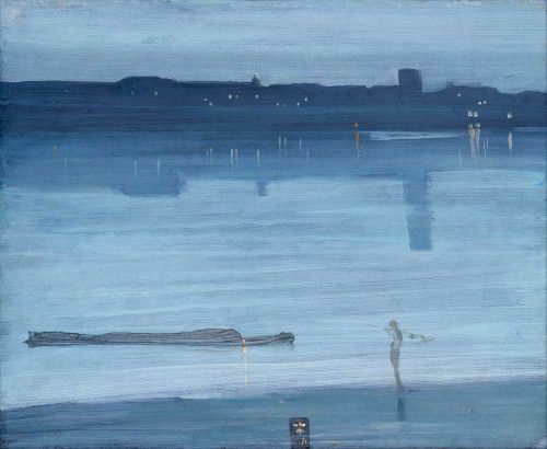 Art prints of Nocturne Blue and Silver, Chelsea by James Abbott McNeill Whistler