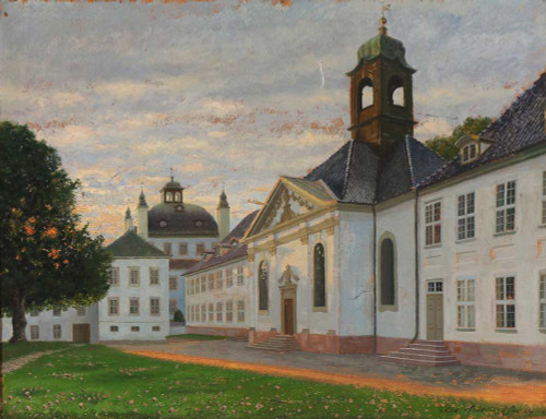 Art prints of At Fredensborg Castle by Adolf Heinrich Hansen