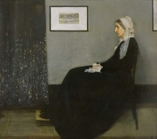 Art prints of Arrangement in Grey and Black No. 1 or Whistler's Mother by James Abbott McNeill Whistler