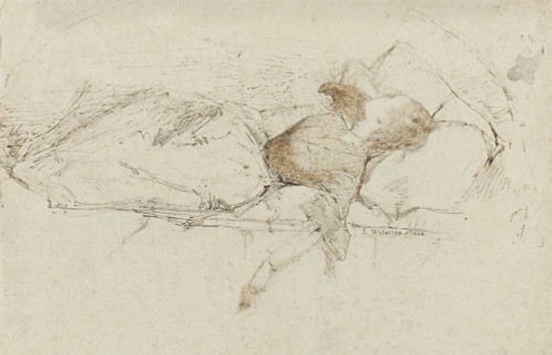 Art prints of Reclining Lady by James Abbott McNeill Whistler