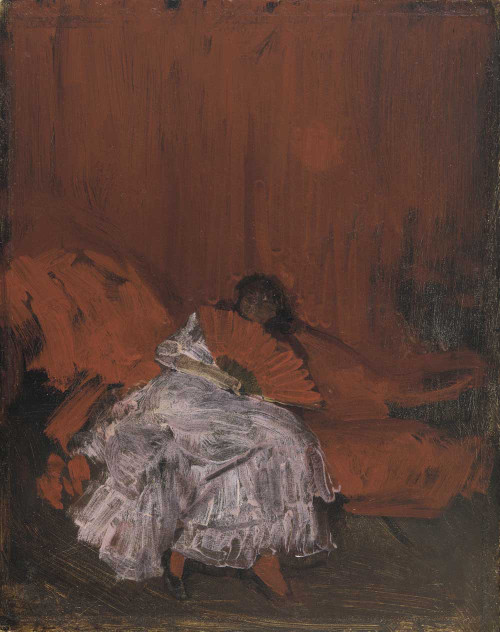 Art prints of Red and Pink, La Petite Mephisto by James Abbott McNeill Whistler