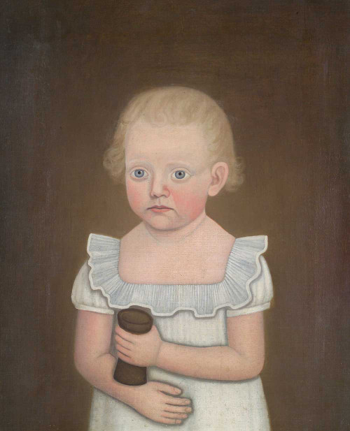 Art prints of Portrait of a Young Child in White by John Brewster Jr.