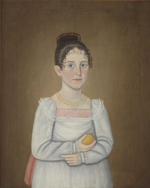 Art prints of Portrait of a Young Girl by John Brewster Jr.