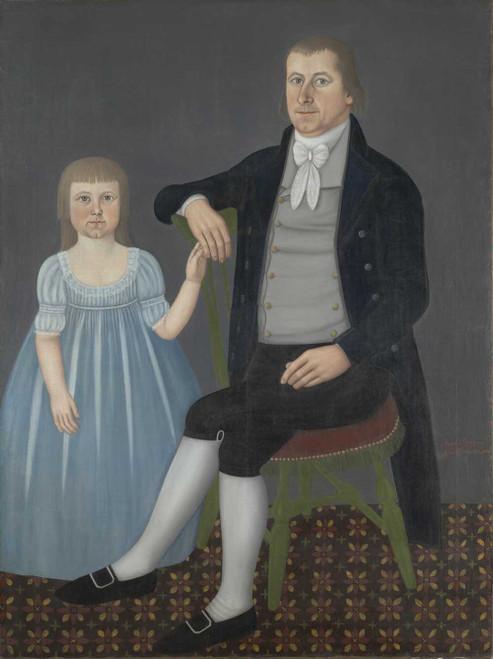 Art prints of Portrait of Comfort Starr Mygatt and Lucy Mygatt by John Brewster Jr.