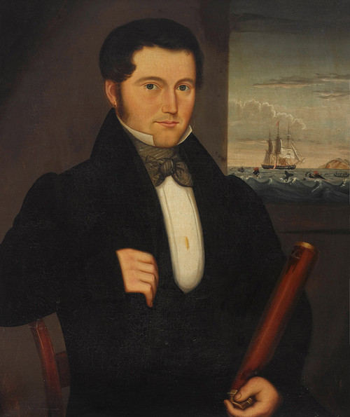 Captain Thomas Roys of Sag Harbor by an Unknown Artist