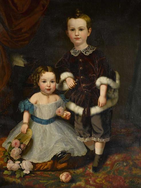 Art prints of The Henderson Children by Charles Christian Nahl