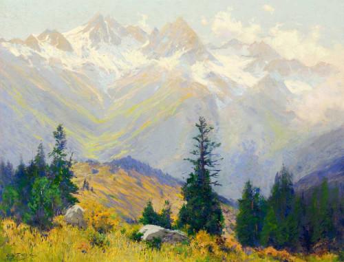 Art prints of Afternoon Autumn, San Juan Mountains, Colorado by Charles Partridge Adams
