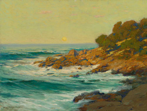 Art prints of Sunset Light near Monterey by Charles Partridge Adams