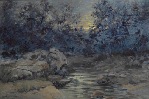Art prints of Nightfall by Charles Partridge Adams