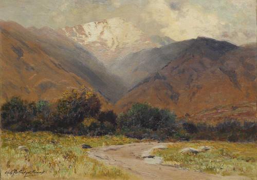 Art prints of Pikes Peak, Light Shower Near Manitou by Charles Partridge Adams