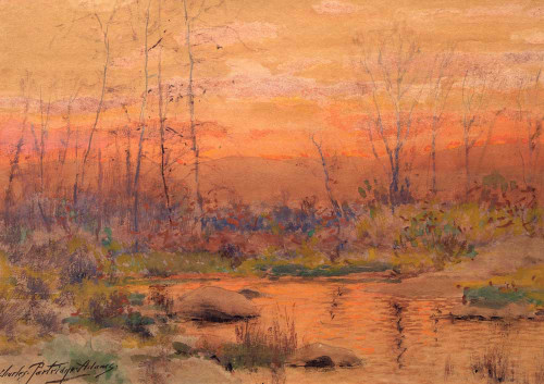 Art prints of Untitled, River at Sunset by Charles Partridge Adams