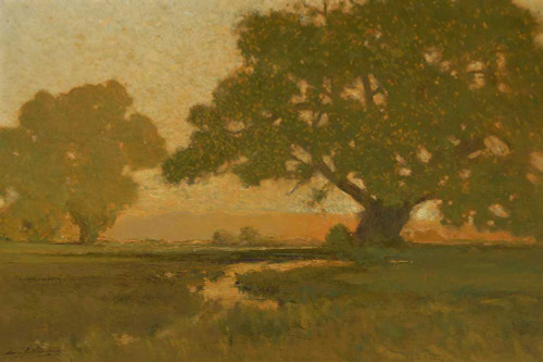 Art prints of Summer Sun at the Horizon by Charles Partridge Adams